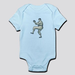 Baseball Pitcher Pitching Etching Body Suit