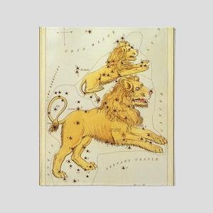 Vintage Celestial Zodiac, Leo Throw Blanket