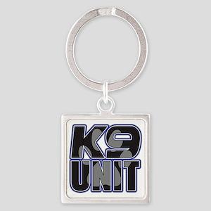 Police K9 Unit Paw Square Keychain