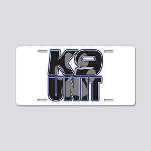 Police K9 Unit Paw Aluminum License Plate