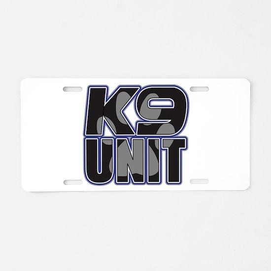Police K9 Unit Paw Aluminum License Plate