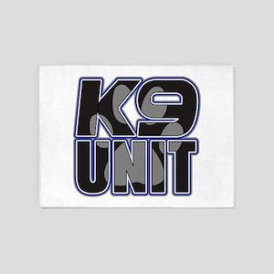Police K9 Unit Paw 5'x7'Area Rug