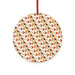 Koi Carp Pattern Ornament (Round)