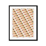Koi Carp Pattern Framed Panel Print