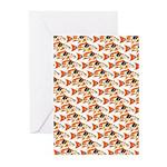 Koi Carp Pattern Greeting Cards