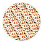 Koi Carp Pattern Round Car Magnet