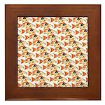 Koi Carp Pattern Framed Tile