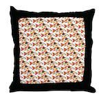 Koi Carp Pattern Throw Pillow