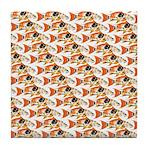 Koi Carp Pattern Tile Coaster