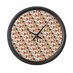 Koi Carp Pattern Large Wall Clock