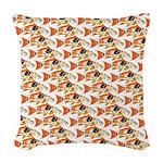 Koi Carp Pattern Woven Throw Pillow