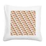 Koi Carp Pattern Square Canvas Pillow