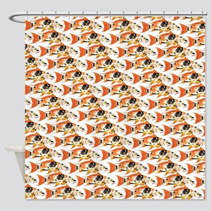 Koi Carp Pattern Shower Curtain