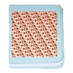 Koi Carp Pattern baby blanket
