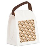 Koi Carp Pattern Canvas Lunch Bag