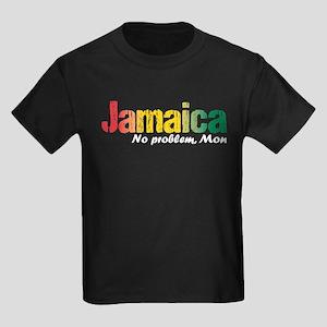Jamaica No Problem tri Kids Dark T-Shirt