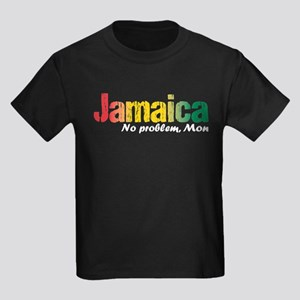 Jamaica No Problem tri Kids Dark T-Shirt