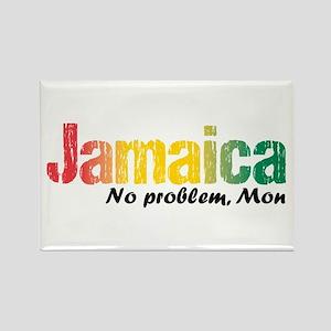 Jamaica No Problem Tri Rectangle Magnet Magnets