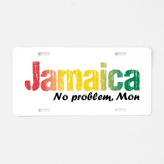 Jamaica No Problem tri Aluminum License Plate