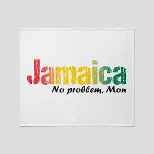 Jamaica No Problem Tri Throw Blanket