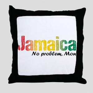 Jamaica No Problem tri Throw Pillow