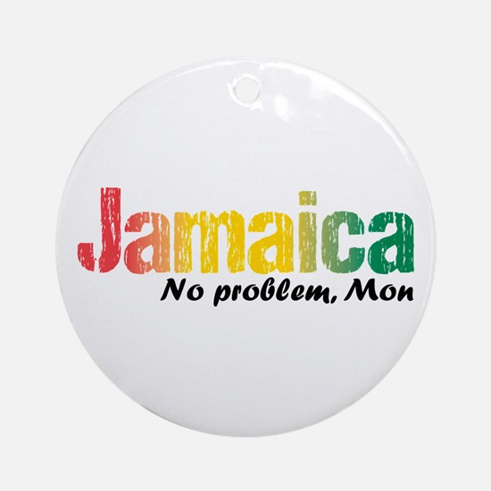 Jamaica No Problem Tri Ornament (round)