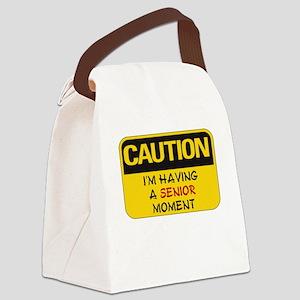 SENIOR MOMENTS - CAUTION I'M HAVI Canvas Lunch Bag