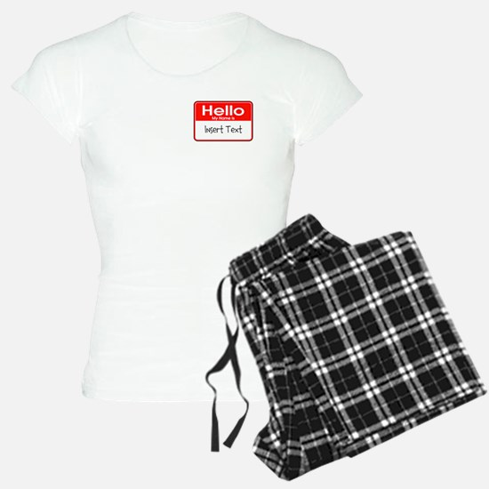 Personalized Hello Name Tag Pajamas