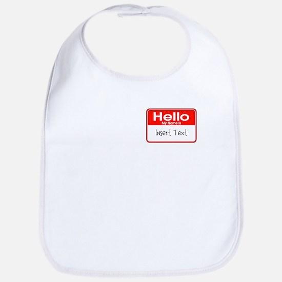Personalized Hello Name Tag Bib