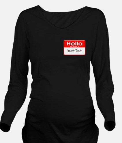 Personalized Hello N Long Sleeve Maternity T-Shirt