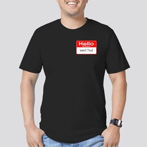 Personalized Hello Nam Men's Fitted T-Shirt (dark)