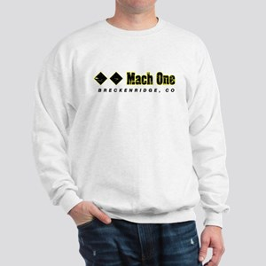 Ski Breckenridge, Mach One, Double Blac Sweatshirt