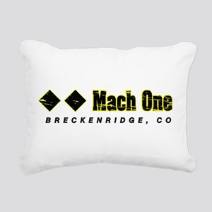 Ski Breckenridge, Mach O Rectangular Canvas Pillow