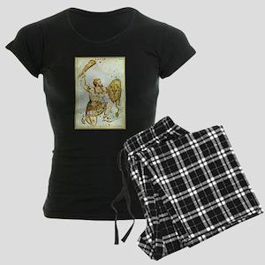Vintage Orion Constellation Women's Dark Pajamas