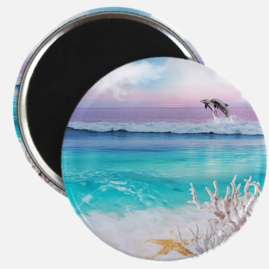 Beach and Ocean  Dancing Dolphins Magnet