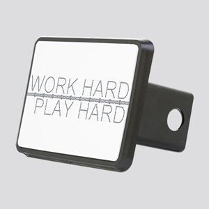 Work Hard/Play Hard Rectangular Hitch Cover