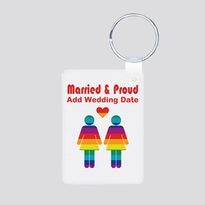 Married and Proud Aluminum Photo Keychain