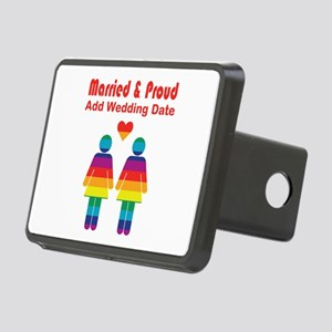 Married and Proud Rectangular Hitch Cover