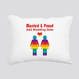 Married and Proud Rectangular Canvas Pillow