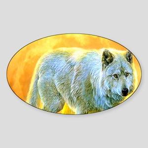 western forest moonlight wolf Sticker