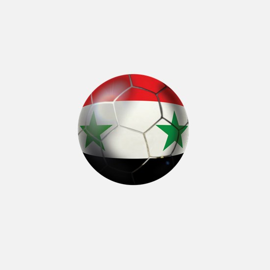 Syria Soccer Ball Mini Button