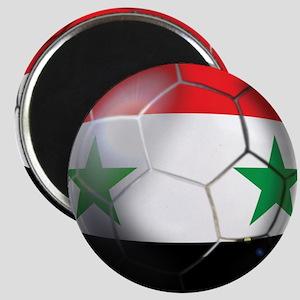 Syria Soccer Ball Magnet