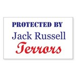 Protected by JRTerrors! Rectangle Sticker
