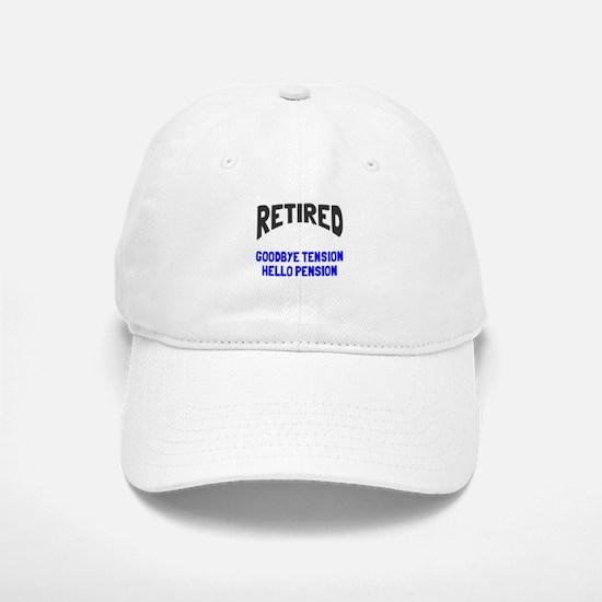 Retired goodbye tension Baseball Baseball Cap