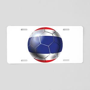 Thailand Soccer Ball Aluminum License Plate