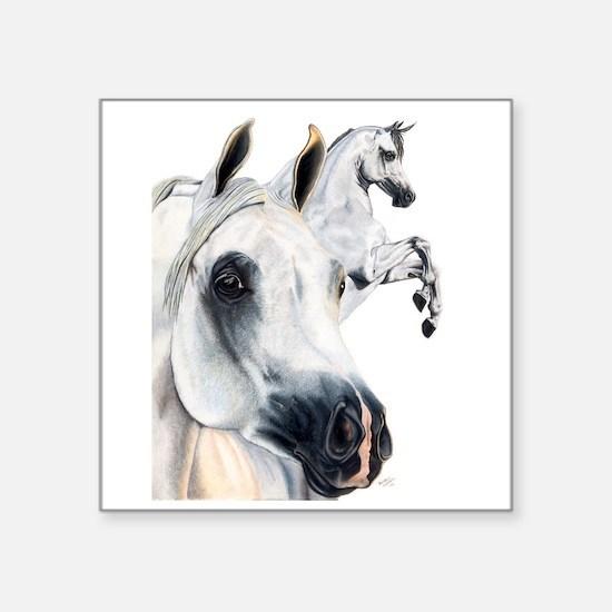 Grey Arabian Rectangle Sticker