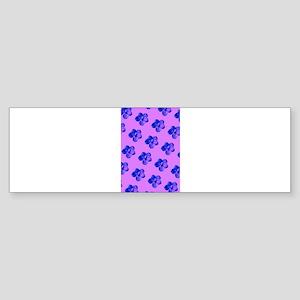 Pink Blue Floral Not Coral Carla's Bumper Sticker