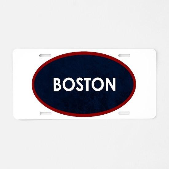 BOSTON Blue Stone Aluminum License Plate