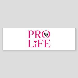 Pro Life Pink Bumper Sticker