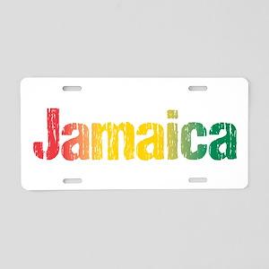 Jamaica Tri Aluminum License Plate